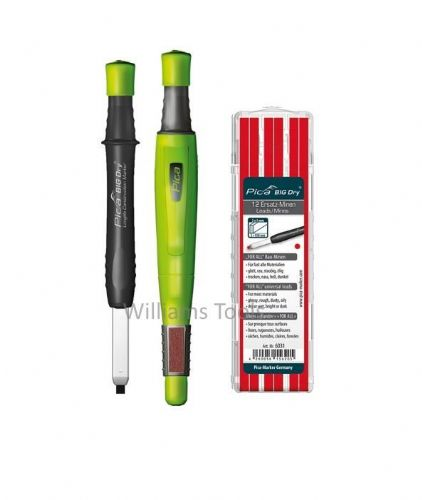 Pica BIG DRY Automatic Marker/Pencil 6060 + 6031 REFILL Red ONLY pk12